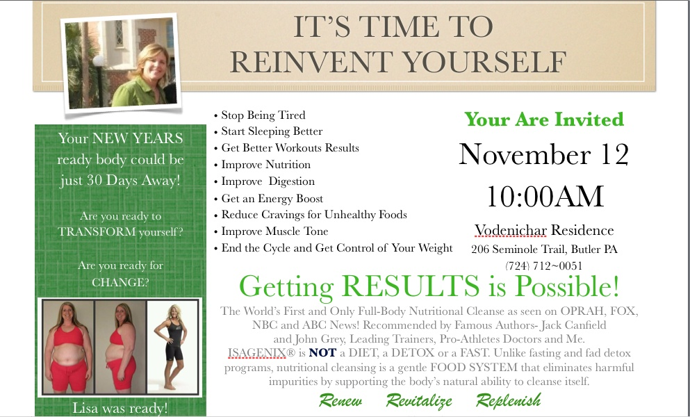 To learn More and to Order Isagenix join Isagenix Network